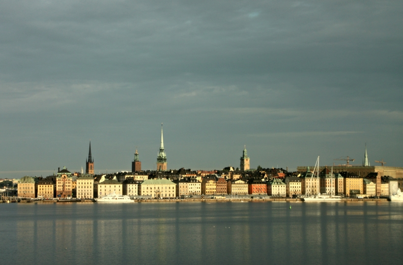 Stockholm's Old Town in the early morning light